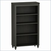 Kathy Ireland by Bush Volcano Dusk 4 Shelf Bookcase in Kona Coast Finish