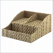 Kathy Ireland by Volcano Dusk Bush Charging Station in Grass Weave-Natural