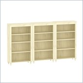 Kathy Ireland by Bush Volcano Dusk Wall Bookcase in Driftwood Dreams