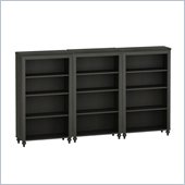Kathy Ireland by Bush Volcano Dusk Wall Bookcase in Kona Coast Finish