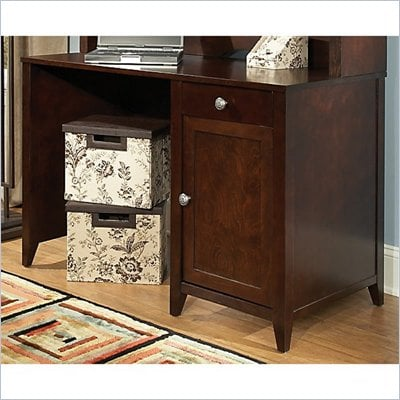 Kathy Ireland by Bush Grand Expressions 48&quot; Single Pedestal Desk in Warm Molasses