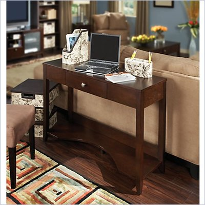 Kathy Ireland by Bush Grand Expressions Sofa Table in Warm Molasses