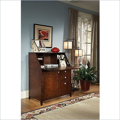 Kathy Ireland by Bush Grand Expressions Secretary Desk in Warm Molasses