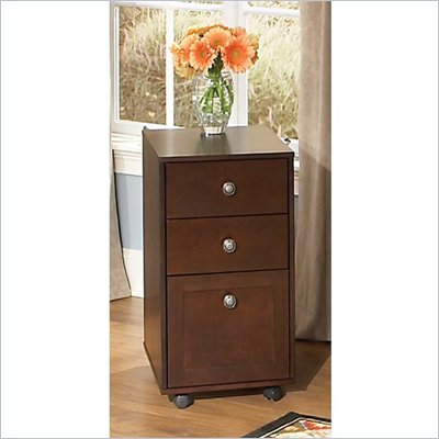 Kathy Ireland by Bush Grand Expressions 3 Drawer Mobile File Cabinet in Warm Molasses