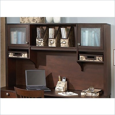 "Kathy Ireland by Bush Grand Expressions 66"" Hutch in Warm Molasses"