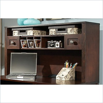 Kathy Ireland by Bush Grand Expressions 48&quot; Hutch in Warm Molasses