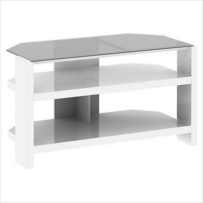 "Kathy Ireland by Bush New York Skyline 42"" TV Stand in Plumeria White"
