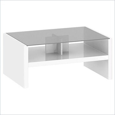 Kathy Ireland by Bush New York Skyline Coffee Table in Plumeria White