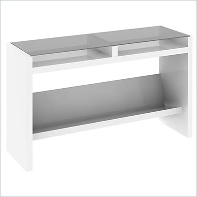 Kathy Ireland by Bush New York Skyline Sofa Table in Plumeria White