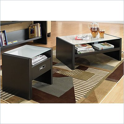 Kathy Ireland by Bush New York Skyline 3 Piece Coffee Table Set in Modern Mocha