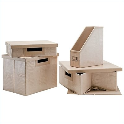 Kathy Ireland by Bush New York Skyline Assorted Storage Bins (4 Pack)