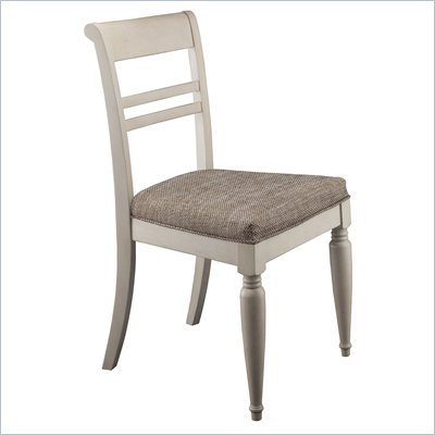 Kathy Ireland by Bush Volcano Dusk Wooden Desk Chair in Antique White