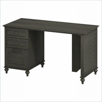Kathy Ireland by Bush Volcano Dusk Single Pedestal Desk in Kona Coast