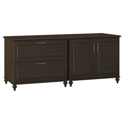 Kathy Ireland by Bush Volcano Dusk Storage Credenza in Kona Coast