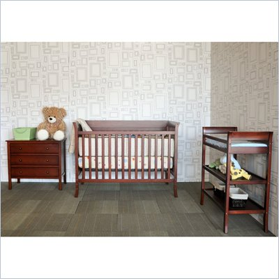 Baby Mod Ava Complete 5-Piece Nursery Set in Cherry