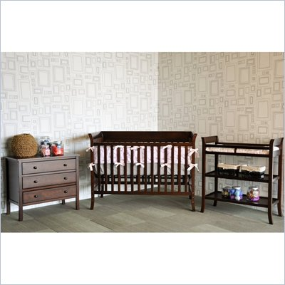 Baby Mod Ava Complete 5-Piece Nursery Set in Espresso