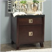 angelo:HOME Marlowe Nightstand in Black and Chocolate Brown