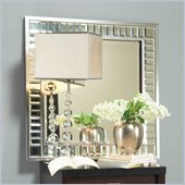 angelo:HOME Marlowe Square Accent Mirror in Bling