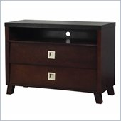 angelo:HOME Marlowe 2 Drawer Media Chest in Black and Chocolate Brown
