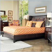 angelo:HOME Marlowe Shelter Bed in Chocolate Bonded Leather