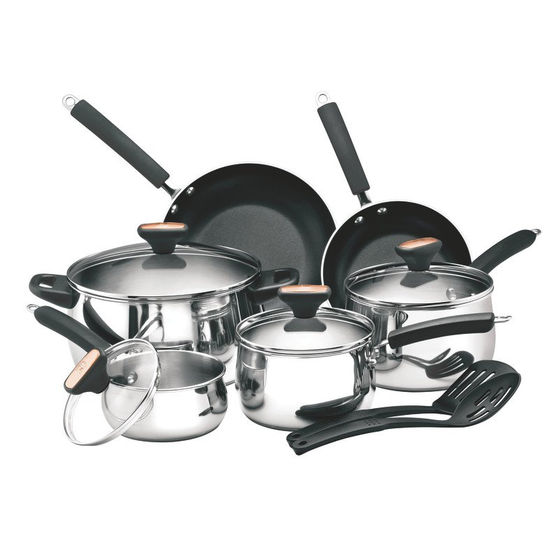 Paula Deen Signature Stainless Steel 12 Piece Cookware Set