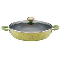 Paula Deen Signature Porcelain Nonstick Skillet in Pear Speckle