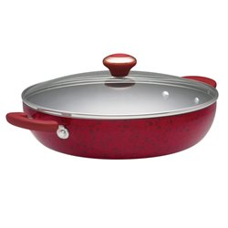 Paula Deen Signature Porcelain Nonstick Skillet in Red Speckle