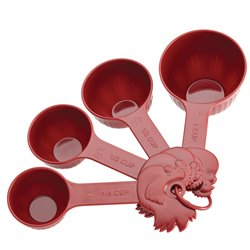 Paula Deen Signature Pantryware 4 Piece Measuring Cup Set in Red