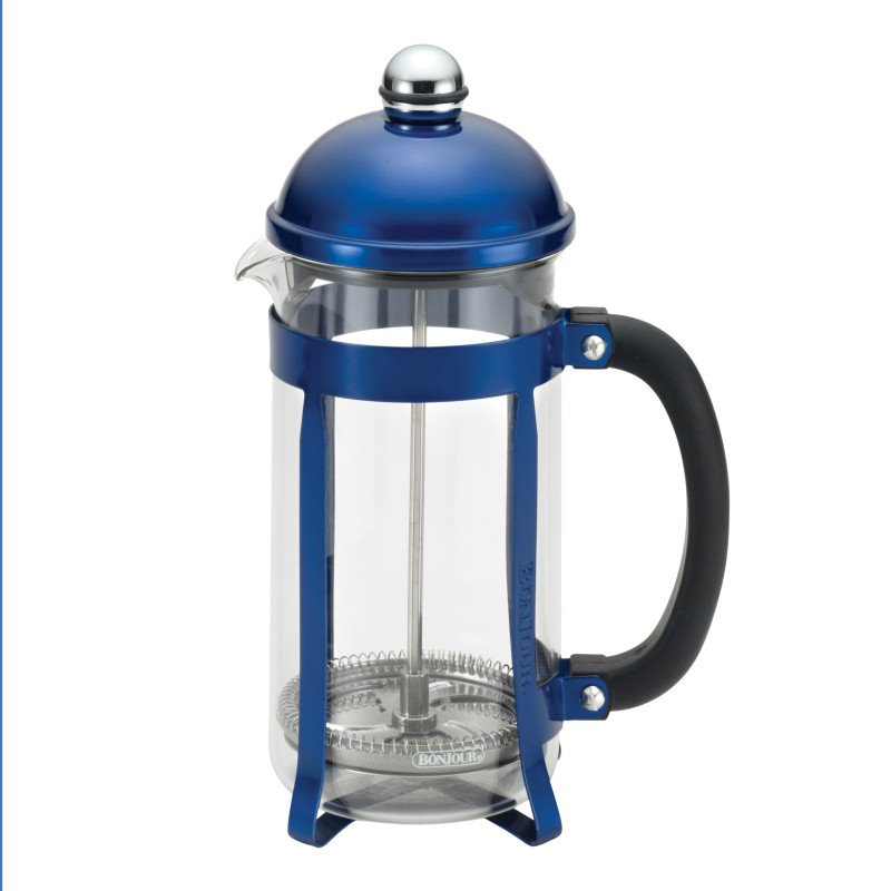 BonJour Coffee 8 Cup French Press in Blue 51282