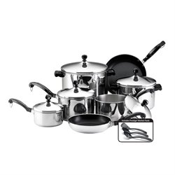 Farberware Classic Series 15 Piece Cookware Set in Stainless Steel