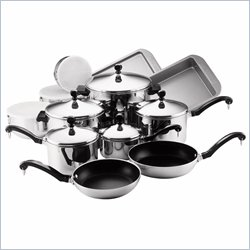 Farberware Classic Series 17 Piece Cookware Set in Stainless Steel