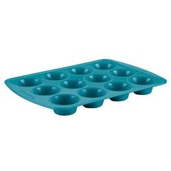Silverstone Bakeware Nonstick 12 Cup Muffin Pan in Marine Blue