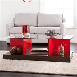 Holly & Martin Cormick Coffee Table in Espresso and Red Orange