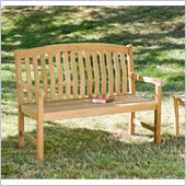 Holly & Martin 4' Crowne Bench in Light Brown Teakwood Stain