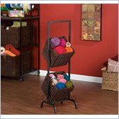 Holly & Martin Abigail 2-Tier Basket Storage in Espresso