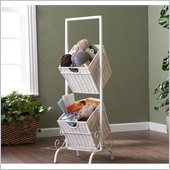 Holly & Martin Abigail 2-Tier Basket Storage in White