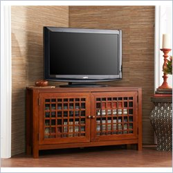 Holly & Martin Akita Corner Media Stand in Walnut