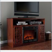 Holly & Martin Akita Media Electric Fireplace in Mahogany