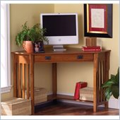 Holly & Martin Alexander Corner Computer Desk in Mission Oak