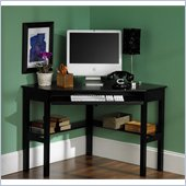 Holly & Martin Alexander Corner Computer Desk in Painted Black