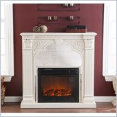 Holly & Martin Andorra Electric Fireplace in Ivory