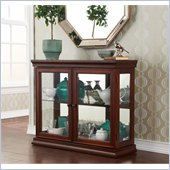 Holly & Martin Arabella Double-Door Curio in Mahogany