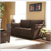 Holly & Martin Baker Loveseat in Dark Brown Coffee