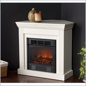Holly & Martin Bastrop Petite Convertible Electric Corner Fireplace in Ivory