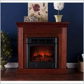 Holly & Martin Bastrop Petite Convertible Electric Fireplace in Mahogany