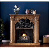 Holly & Martin Bedford Gel Fireplace in Old World Oak