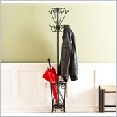 Holly & Martin Brighton Coat Rack and Umbrella Stand in Painted Black
