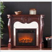 Holly & Martin Burbank Electric Fireplace in Cherry