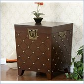 Holly & Martin Caldwell Trunk End Table in Espresso