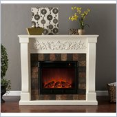 Holly & Martin Calgary Electric Fireplace in Ivory